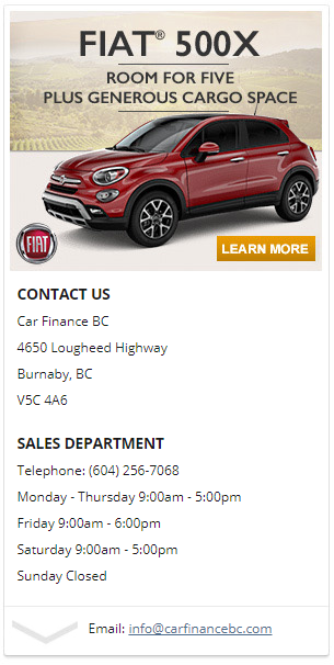 subprime vehicle loans in burnaby
