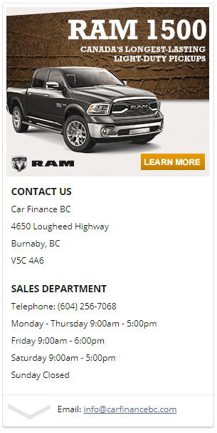 bad credit truck loans burnaby